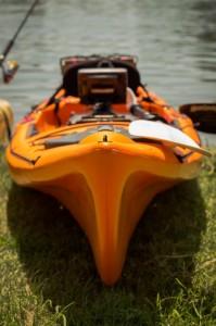 La prua filante del kayak