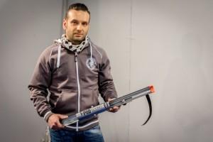 Niky della NG Fishing, il creatore del Vertical Pod